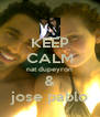 KEEP CALM nat dupeyron & jose pablo - Personalised Poster A4 size