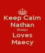 Keep Calm Nathan Always Loves Maecy - Personalised Poster A4 size