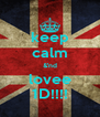 keep calm &'nd lovee 1D!!!! - Personalised Poster A4 size