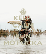 KEEP  CALM NEVERTHELESS RUN MO'FUCKA - Personalised Poster A4 size