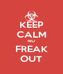 KEEP CALM NO FREAK OUT - Personalised Poster A4 size