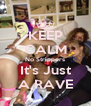 KEEP CALM No Strippers It's Just A RAVE - Personalised Poster A4 size