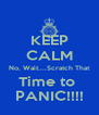 KEEP CALM No, Wait....Scratch That Time to  PANIC!!!! - Personalised Poster A4 size