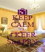 KEEP CALM NOG 4 KEER SLAPEN - Personalised Poster A4 size