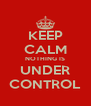 KEEP CALM NOTHING IS UNDER CONTROL - Personalised Poster A4 size