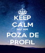 KEEP CALM NU AM POZA DE PROFIL - Personalised Poster A4 size