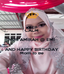 KEEP CALM NUR AMIRAH @ EMI AND HAPPY BIRTHDAY Mom to Be - Personalised Poster A4 size