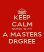 KEEP CALM NURSE WITH A MASTERS DRGREE - Personalised Poster A4 size