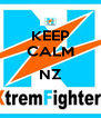 KEEP CALM  NZ  - Personalised Poster A4 size