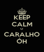 KEEP CALM O CARALHO ÓH - Personalised Poster A4 size