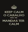 KEEP CALM O CARALHO NÃO ME MANDAS TER  CALM - Personalised Poster A4 size