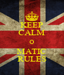 KEEP CALM O MATIC RULES - Personalised Poster A4 size