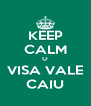 KEEP CALM O VISA VALE CAIU - Personalised Poster A4 size