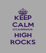 KEEP CALM OCEANSIDE HIGH ROCKS - Personalised Poster A4 size