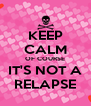 KEEP CALM OF COURSE IT'S NOT A RELAPSE - Personalised Poster A4 size