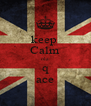 keep  Calm ola q ace - Personalised Poster A4 size