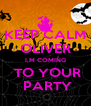 KEEP CALM OLIVER I,M COMING  TO YOUR  PARTY - Personalised Poster A4 size