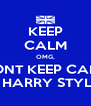 KEEP CALM OMG, DONT KEEP CALM ITS HARRY STYLES! - Personalised Poster A4 size