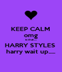 KEEP CALM omg is that.... HARRY STYLES  harry wait up..... - Personalised Poster A4 size