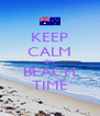 KEEP CALM ON BEACH TIME - Personalised Poster A4 size