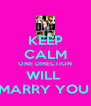 KEEP CALM ONE DIRECTION WILL  MARRY YOU  - Personalised Poster A4 size