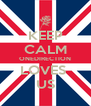 KEEP CALM ONEDIRECTION LOVES  US - Personalised Poster A4 size