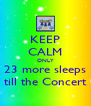 KEEP CALM ONLY 23 more sleeps till the Concert - Personalised Poster A4 size