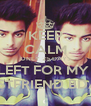 KEEP CALM ONLY 25 DAYS LEFT FOR MY  BESTFRIEND BDAY - Personalised Poster A4 size