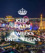 KEEP CALM ONLY 4 WEEKS UNTIL VEGAS - Personalised Poster A4 size