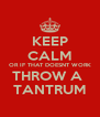 KEEP CALM OR IF THAT DOESNT WORK THROW A  TANTRUM - Personalised Poster A4 size