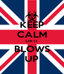 KEEP CALM OR IT BLOWS UP - Personalised Poster A4 size