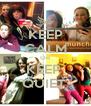 KEEP CALM OR KEEP  QUIET  - Personalised Poster A4 size