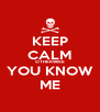 KEEP CALM OTHERWISE YOU KNOW ME - Personalised Poster A4 size