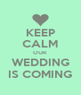 KEEP CALM OUR WEDDING IS COMING - Personalised Poster A4 size