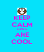 KEEP CALM OWLS ARE COOL - Personalised Poster A4 size