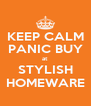 KEEP CALM PANIC BUY at STYLISH HOMEWARE - Personalised Poster A4 size