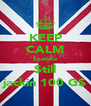 KEEP CALM $peddie $till jackin 100 G$ - Personalised Poster A4 size