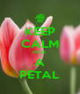 KEEP CALM PICK A PETAL - Personalised Poster A4 size