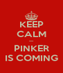 KEEP CALM --- PINKER IS COMING - Personalised Poster A4 size