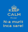 KEEP CALM Pivotu' N-a murit  Inca sare!  - Personalised Poster A4 size