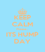 KEEP CALM Please.. ITS HUMP DAY - Personalised Poster A4 size