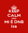 KEEP CALM PMD MI É DNB isa - Personalised Poster A4 size
