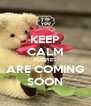 KEEP CALM POEPIES ARE COMING SOON - Personalised Poster A4 size
