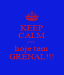 KEEP CALM pois hoje tem GRENAL!!! - Personalised Poster A4 size