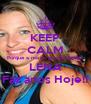 KEEP CALM Porque a nossa grande Amiga LENA Faz anos Hoje!! - Personalised Poster A4 size