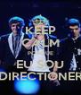 KEEP CALM PORQUE EU SOU DIRECTIONER - Personalised Poster A4 size