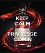 KEEP CALM PPL PRIV4LEGE COMIN - Personalised Poster A4 size