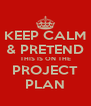KEEP CALM & PRETEND THIS IS ON THE PROJECT PLAN - Personalised Poster A4 size