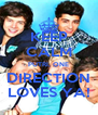 KEEP CALM PUTRI, ONE DIRECTION LOVES YA! - Personalised Poster A4 size