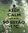 KEEP CALM que ainda SÓ ESTÃO -1 ºC - Personalised Poster A4 size